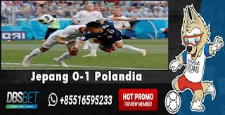 jepang 0-1 polandia piala dunai 28 juni 2018