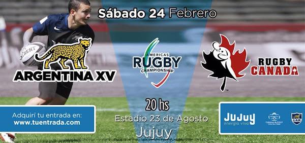 Venta de entradas para Argentina XV vs Canadá en Jujuy