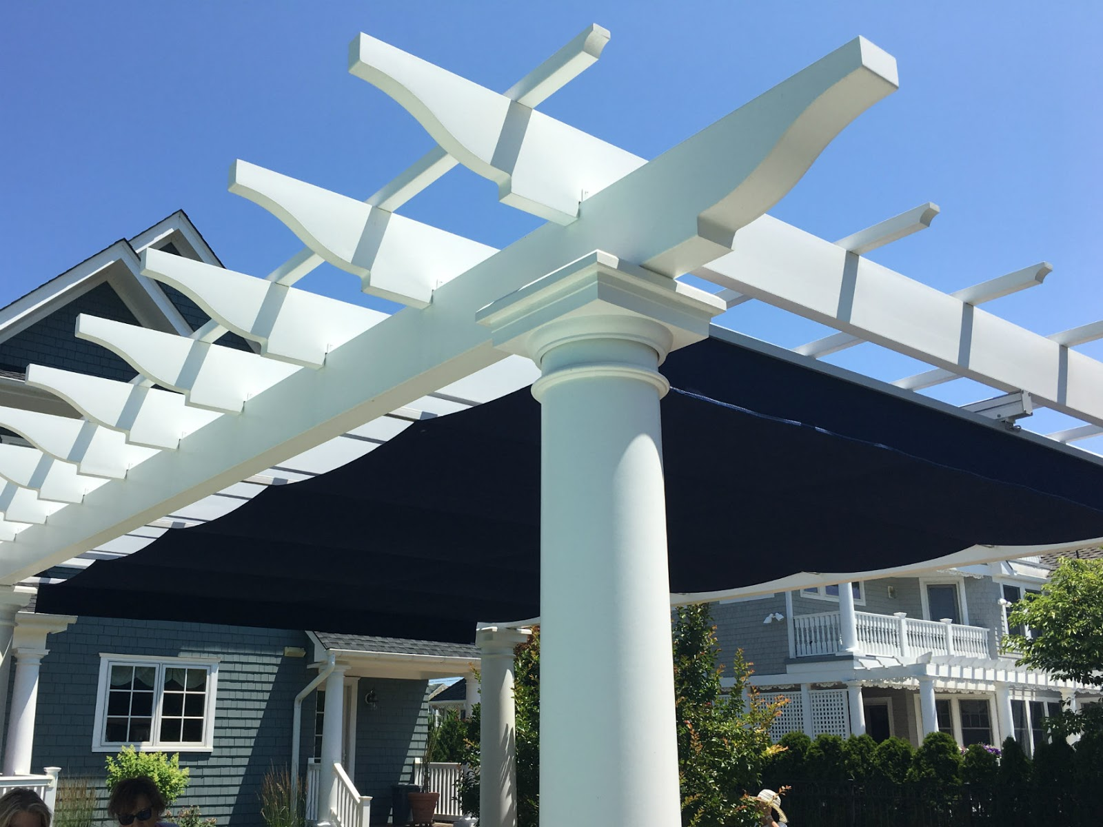 Pergola with custom awning