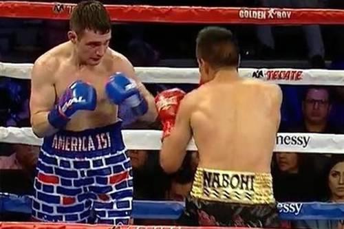 Boxeador Mejicano mete paliza a púgil de EE.UU. que lo provocó aludiendo al muro de Trump