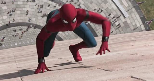 El traje de Tom Holland en Spider-Man: Homecoming