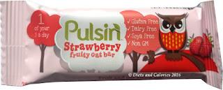 Pulsin Strawberry fruit oat bars