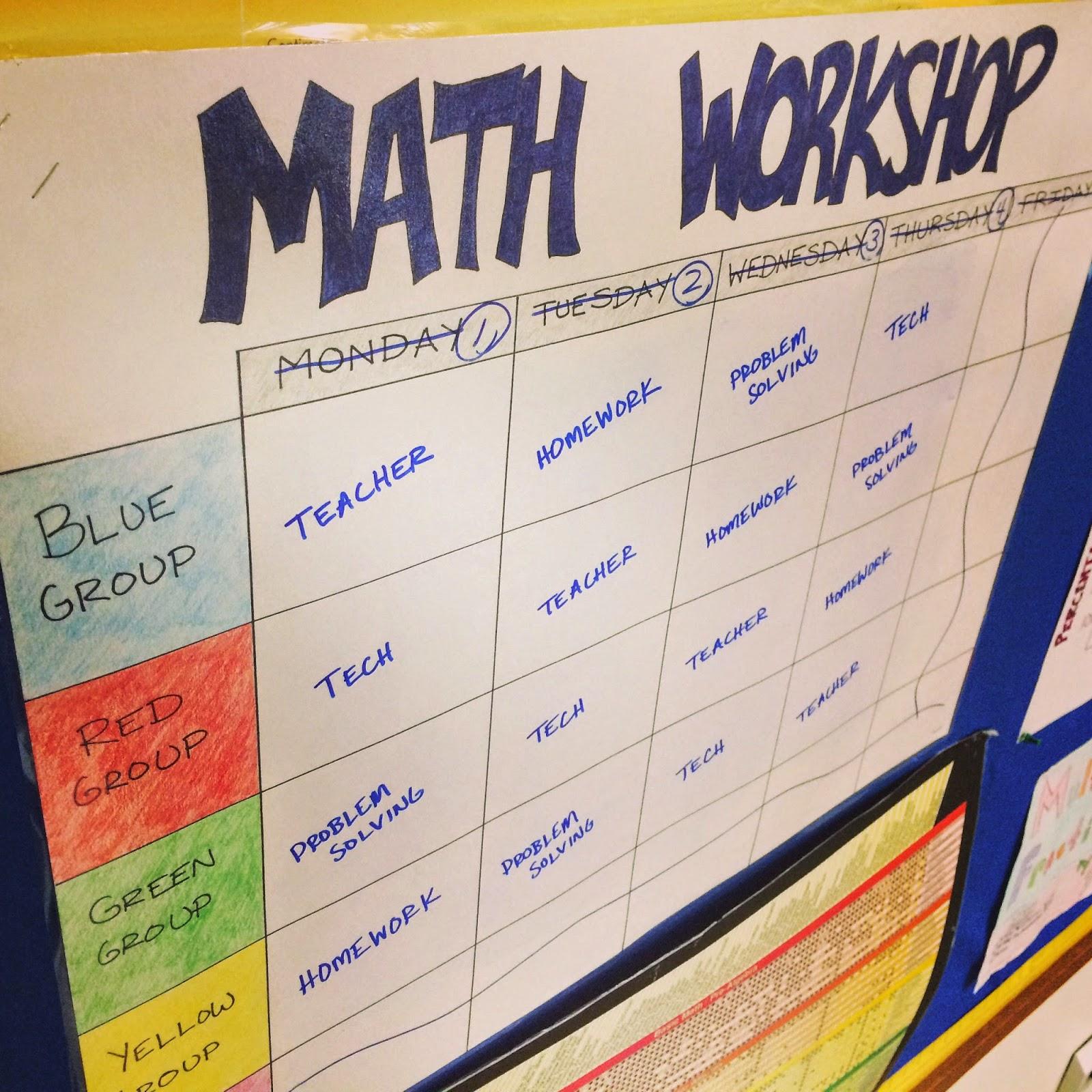 Middle School Math Man Making Math Workshop Work