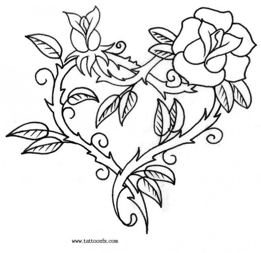 rose vine tattoo designs free tattoo designs of flowers 18301 900x872