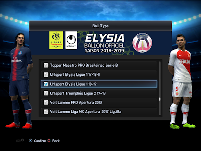PES 2013 Balls Uhlsport Elysia Ligue 1 2018/2019 by M4rcelo