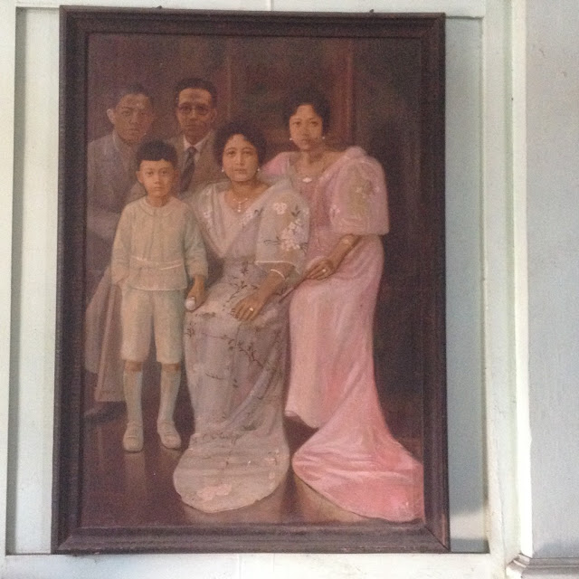 Family portrait at the Don Bernardino Jalandoni Ancestral House and Museum