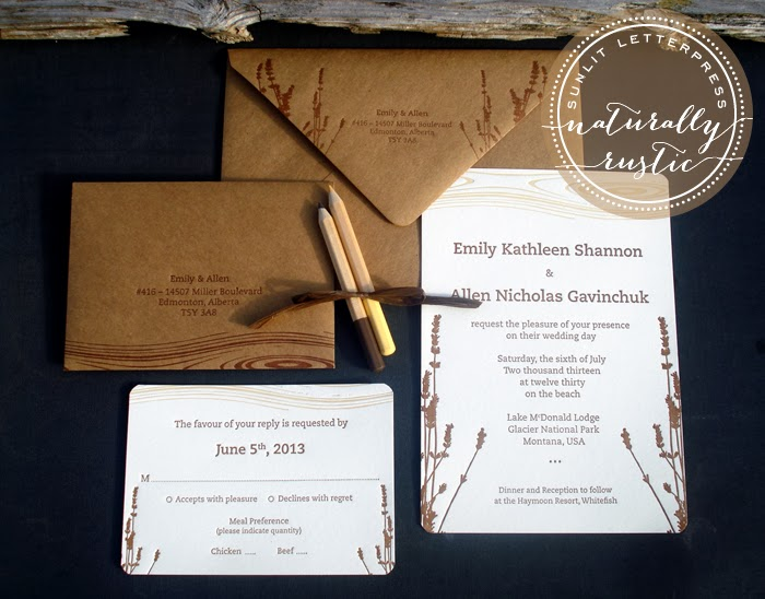 Natural rustic letterpress wedding invitations sunlit letterpress natural rustic letterpress wedding invitations solutioingenieria Gallery