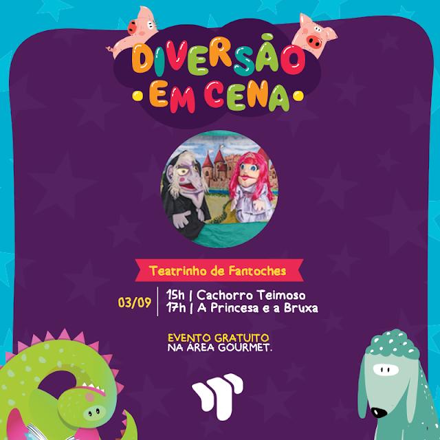 Programação infantil no Shopping Tacaruna