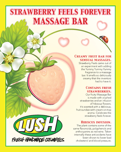 Barre de Massage Strawberry Feels Forever (Accroche Coeur) - Lush