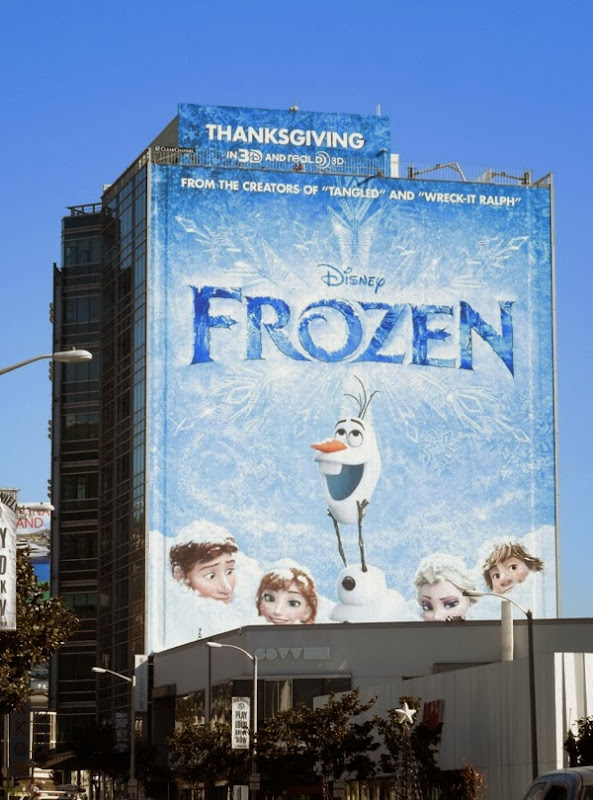 Disney Frozen giant movie billboard