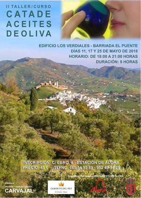 II Taller de Cata de Aceites de Oliva en Álora