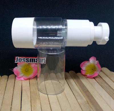 Jual-Botol-Airless-Spray-Import-tempat-serum-wajah-kosmetik-acrylic 20ml-Warna-Putih-White