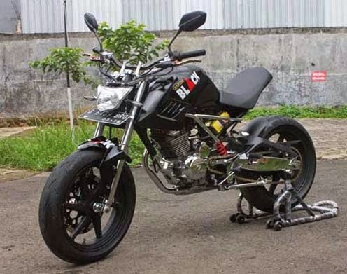 Modifikasi Honda Tiger Revo Minor Fighter