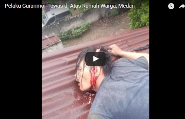 VIDEO   Pelaku Pencuri Motor Tewas Di Tembak
