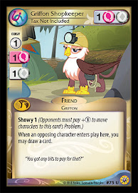 My Little Pony Griffon Shopkeeper, Tax Not Included Friends Forever CCG Card