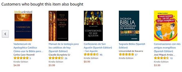Amazon muestra los libros similares al tuyo según las preferencias de los compradores