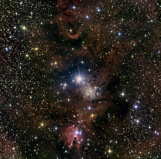 "NGC 2264, The ""Cone Nebula"" in Monoceros - Imaged on ATEO-1 by Colby P. and Anthony A."