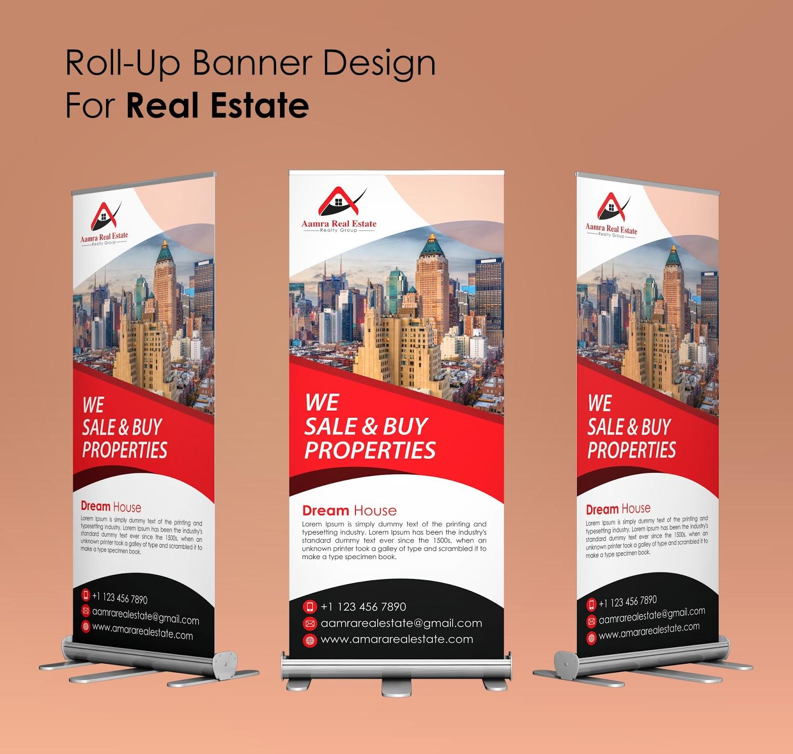 Real Estate Roll Up Banner Template Design Shuhel Ahmed