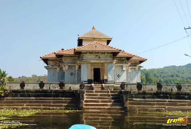 A closer view of Parshwanatha Basadi, the Lake Temple of Varanga