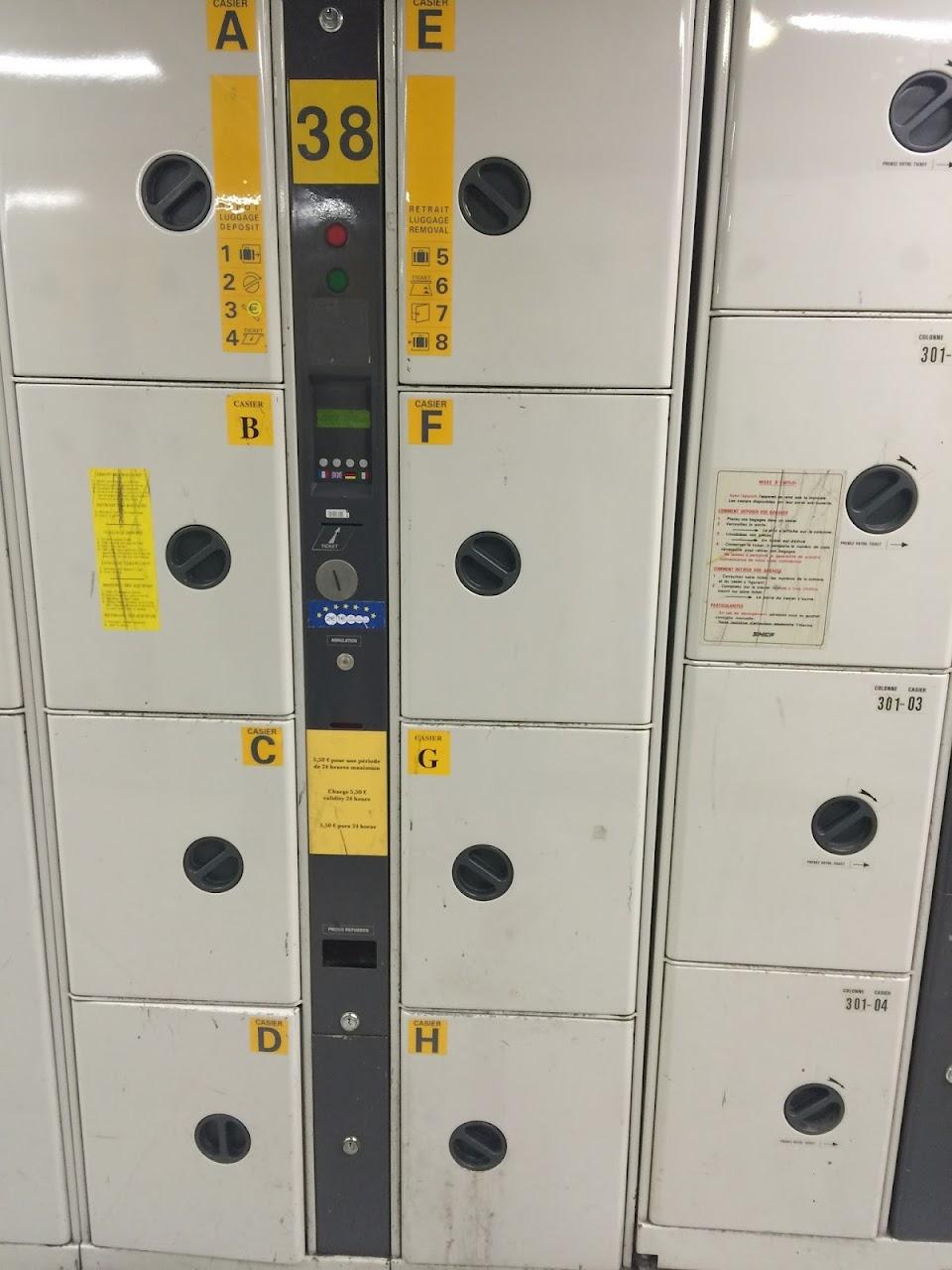 モンパルナス駅のコインロッカー