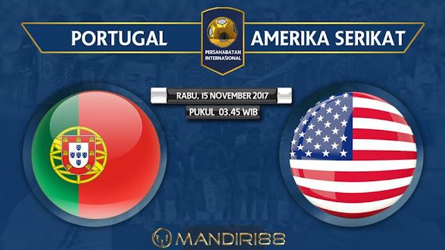 Portugal akan menjamu Amerika Serikat pada pertandingan uji coba di Stadion Dr Berita Terhangat Prediksi Bola : Portugal Vs USA , Rabu 15 November 2017 Pukul 03.45 WIB