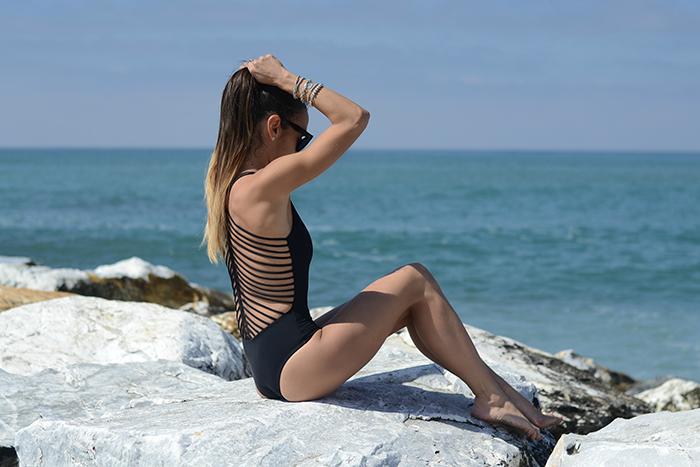 black swimwear