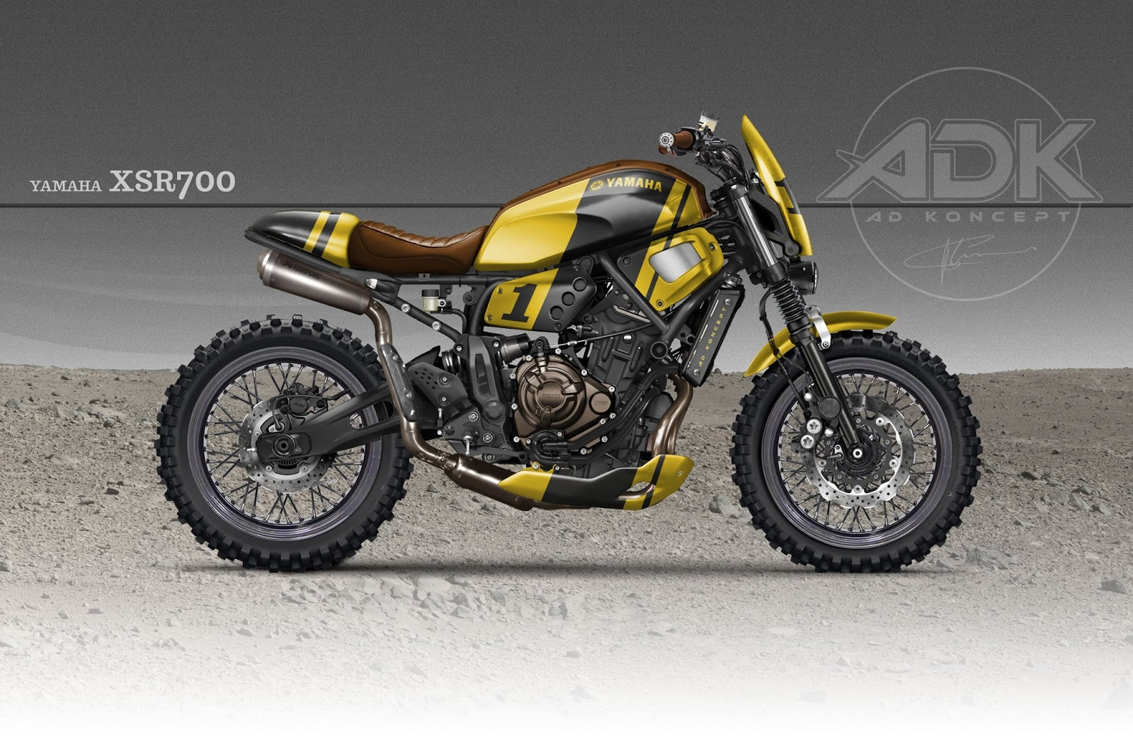 racing caf design corner yamaha xsr by ad koncept. Black Bedroom Furniture Sets. Home Design Ideas