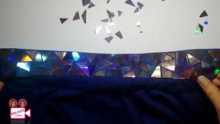 Membuat Hiasan Kerah Baju dari CD Bekas