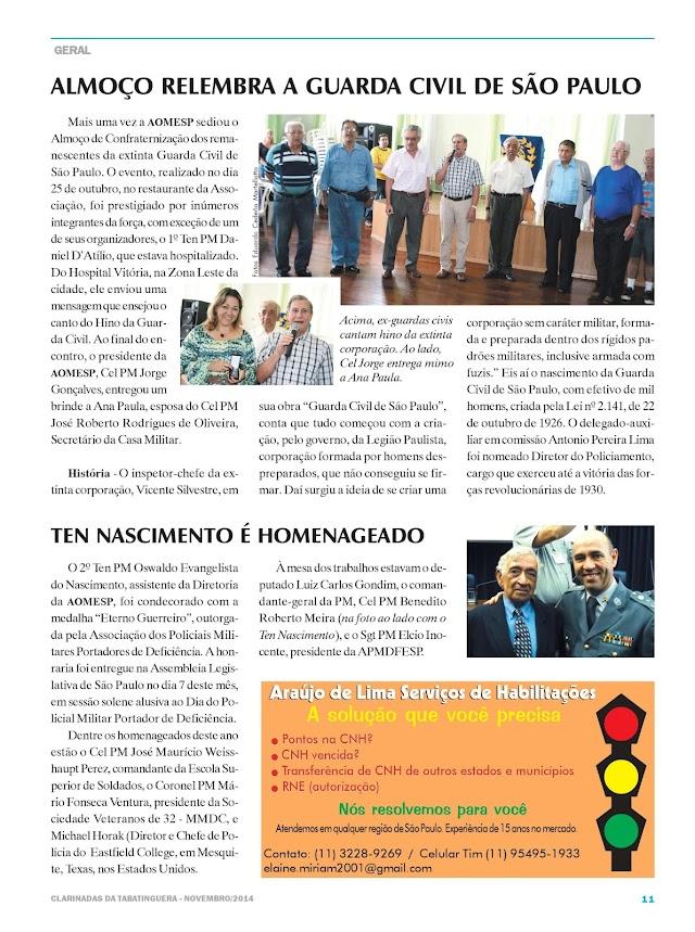 Colaboração para a Revista Clarinadas da Tabatinguera