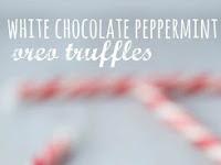 NO BAKE WHITE CHOCOLATE PEPPERMINT OREO TRUFFLES