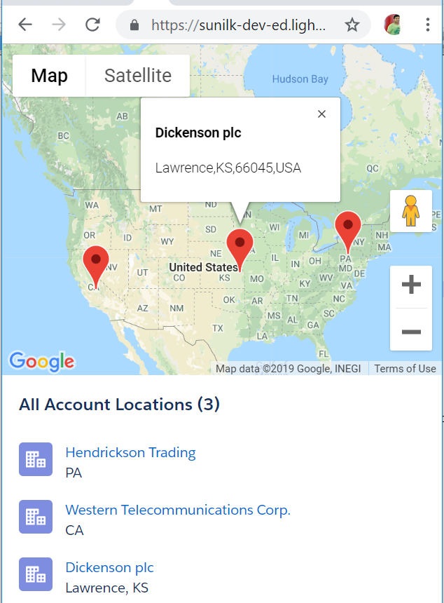Salesforce Stuff: Lightning:map - Way to display location on ... on state map, latitude map, address number map, address finder map, find locations on a map, city map, address plot map, address layout,