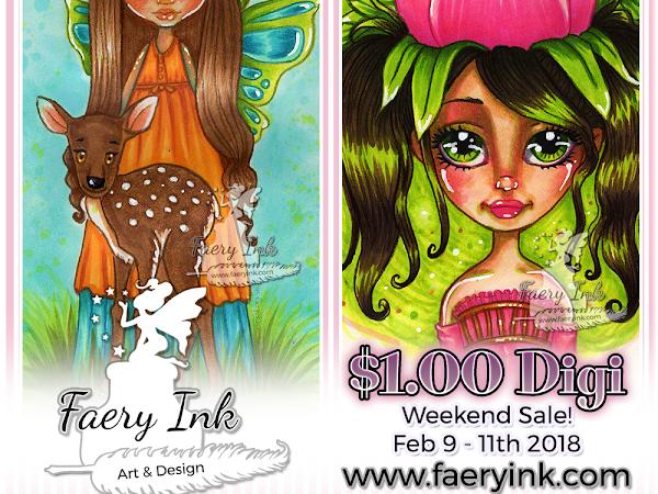 $1 Digi Weekend Begins! The Girl Rose and Gabbie Flora & Fauna