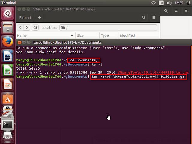 Instalasi VMWare Tools untuk OS Linux Ubuntu