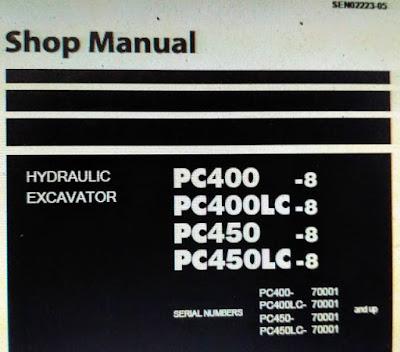 Shop manual PC400-8 pc400lc-8 pc450-8 pc450lc-8