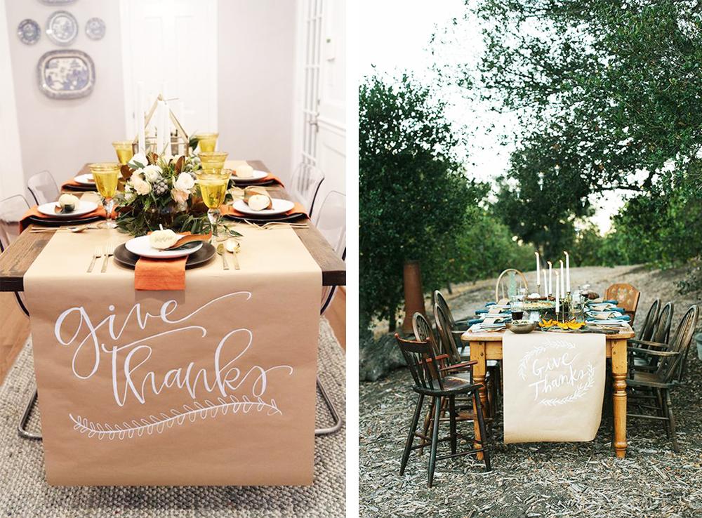 mantel kraft para decorar mesa acción de gracias o thanksgiving fácil y económico