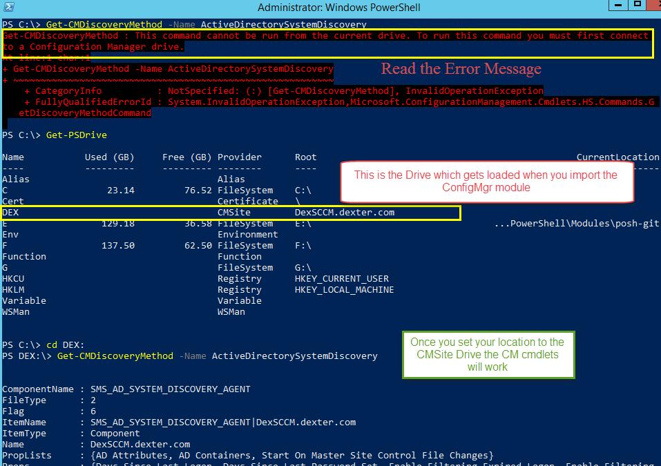 DexterPOSH's Blog: PowerShell + SCCM 2012 R2 : Discovery