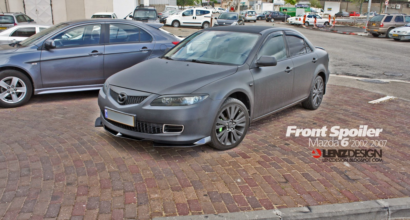 mazda 6 2002 2007 front spoiler lenzdesign performance israel tuning project. Black Bedroom Furniture Sets. Home Design Ideas