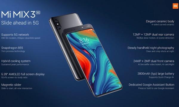 Xiaomi Mi Mix 3 5G - Specs