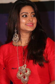 Actress Sneha Latest Stills in Red Dress at Simba Audio Launch  0001.jpg