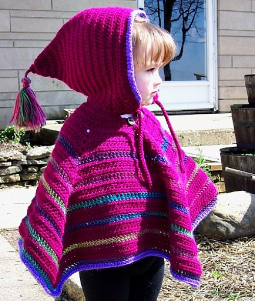 Toddler Hooded Poncho - Free Pattern