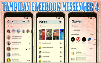 Tampilan Facebook Messenger 4
