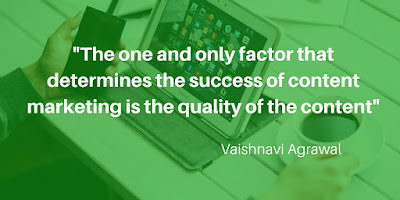 """The one and only factor that determines the success of content marketing is the quality of the content"" #Quote"