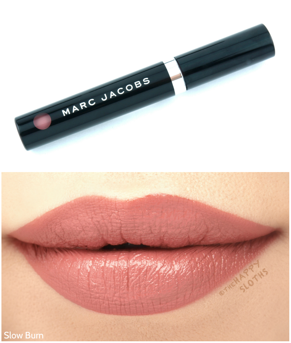 "Marc Jacobs Le Marc Liquid Lip Creme in ""Slower Burn"": Review and Swatches"
