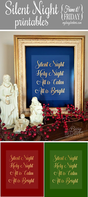 Silent Night Christmas printables