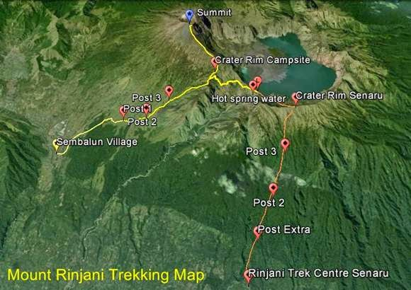 Rinjani Trek Map