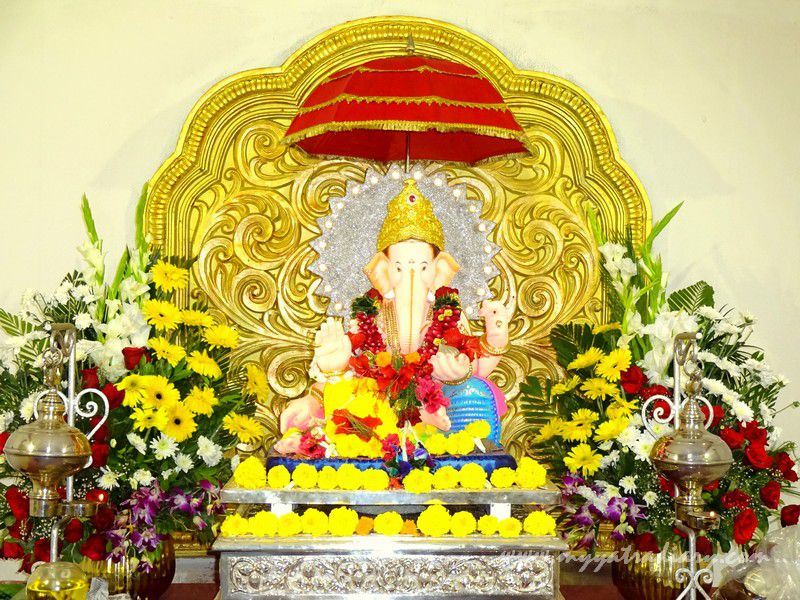 Eco friendly Ganesha at City's oldest pandal- Keshavji Naik chawl, Girgaon Mumbai