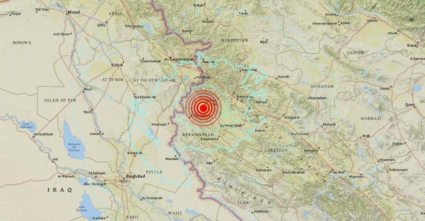 TERREMOTO EN IRÁN: Fuerte sismo de magnitud 5.9 (Hoy Domingo 22 Julio 2018) Sismo Temblor EPICENTRO Sarpol-e Zahab - Kermanshah - USGS