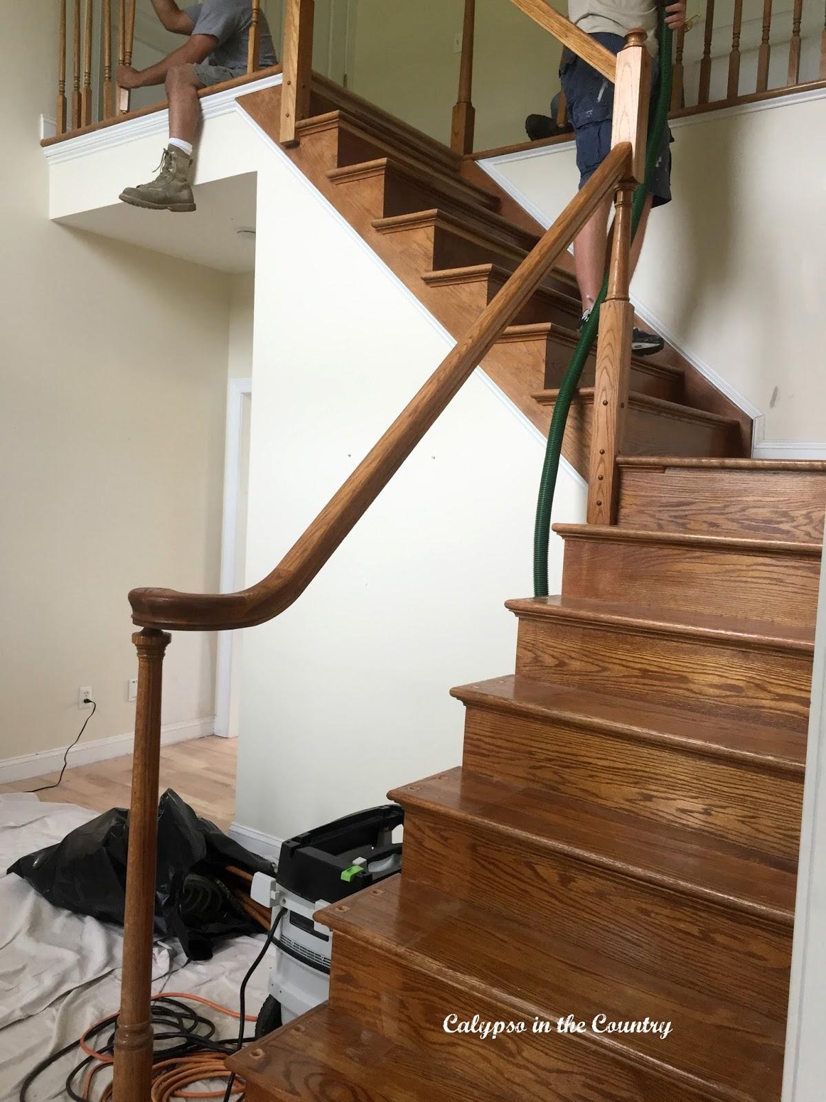 Renovation Progress - Sanding Staircase