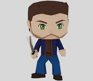 dean supernatural papercraft by rondipaper