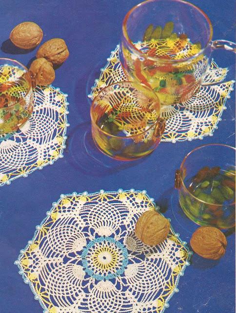 Patrón 1004 Tapetes Hexagonales a Crochet